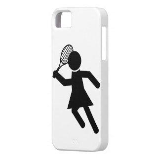 Jugador de tenis de sexo femenino - símbolo del te iPhone 5 Case-Mate protector