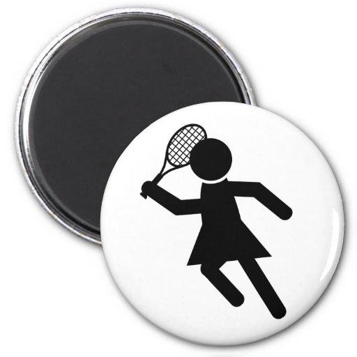 Jugador de tenis de sexo femenino - símbolo del te imanes