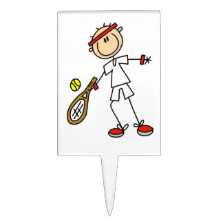 Jugador de tenis de sexo masculino figuras para tartas