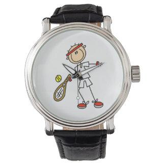 Jugador de tenis de sexo masculino relojes de mano