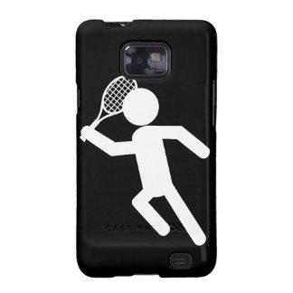 Jugador de tenis de sexo masculino - símbolo del galaxy s2 funda