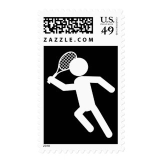 Jugador de tenis de sexo masculino - símbolo del sello