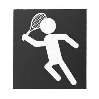 Jugador de tenis de sexo masculino - símbolo del t blocs de papel