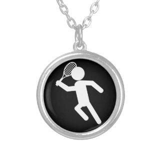 Jugador de tenis de sexo masculino - símbolo del t collar personalizado