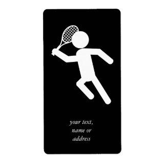 Jugador de tenis de sexo masculino - símbolo del t etiquetas de envío