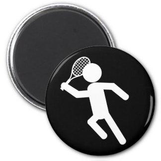 Jugador de tenis de sexo masculino - símbolo del t iman de frigorífico