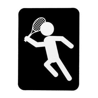 Jugador de tenis de sexo masculino - símbolo del t imán rectangular
