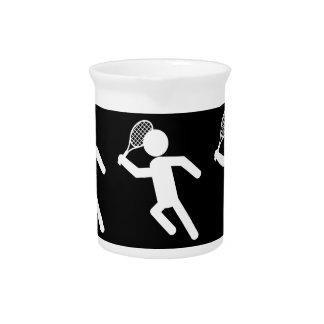 Jugador de tenis de sexo masculino - símbolo del t jarras