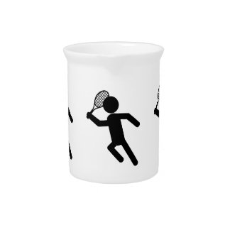 Jugador de tenis de sexo masculino - símbolo del t jarra