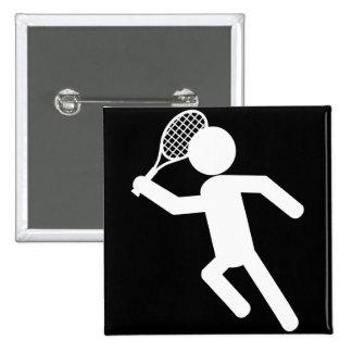 Jugador de tenis de sexo masculino - símbolo del t pin