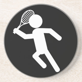 Jugador de tenis de sexo masculino - símbolo del t posavaso para bebida