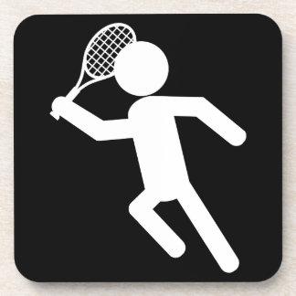 Jugador de tenis de sexo masculino - símbolo del t posavaso