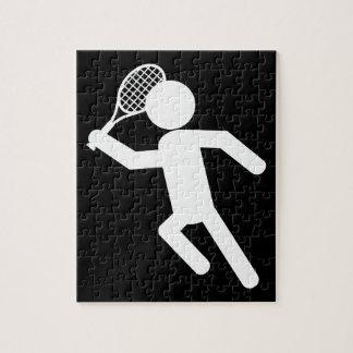Jugador de tenis de sexo masculino - símbolo del t puzzles