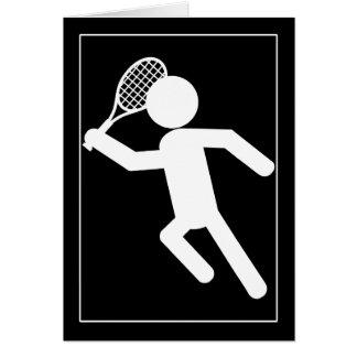 Jugador de tenis de sexo masculino - símbolo del t felicitaciones