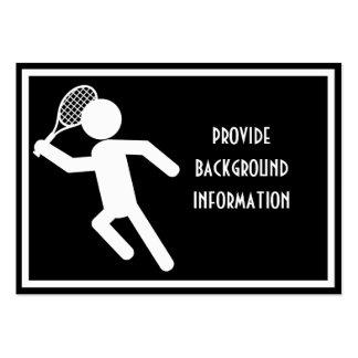Jugador de tenis de sexo masculino - símbolo del t tarjeta de visita