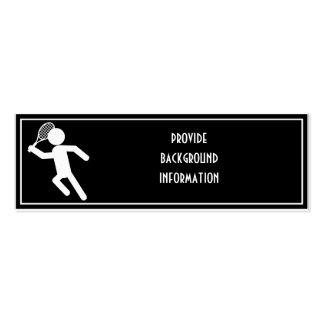 Jugador de tenis de sexo masculino - símbolo del t tarjetas de negocios