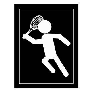 Jugador de tenis de sexo masculino - símbolo del t postales
