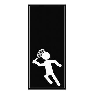 Jugador de tenis de sexo masculino - símbolo del t tarjeta publicitaria