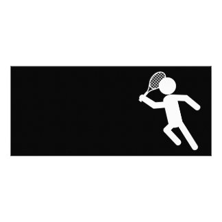 Jugador de tenis de sexo masculino - símbolo del t tarjetas publicitarias personalizadas