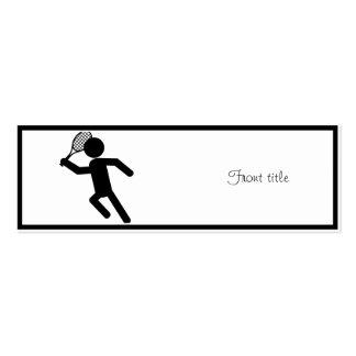 Jugador de tenis de sexo masculino - símbolo del tarjetas de visita mini
