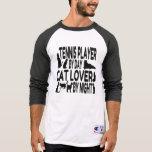 Jugador de tenis del amante del gato camiseta