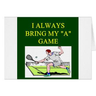 jugador de tenis del llove i tarjetas