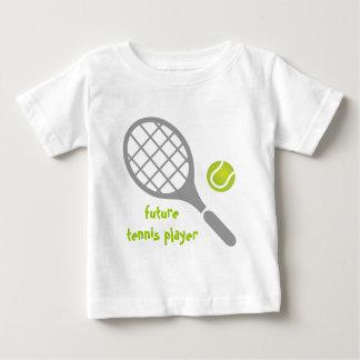 Jugador de tenis, estafa de tenis y bola futuros playera de bebé