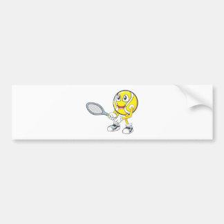 Jugador de tenis feliz pegatina de parachoque