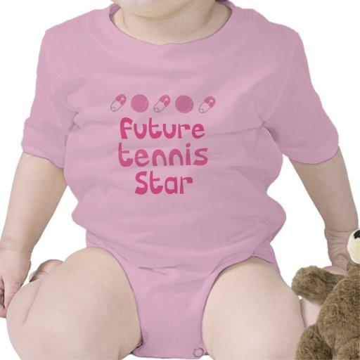 Jugador de tenis futuro (estrella) trajes de bebé