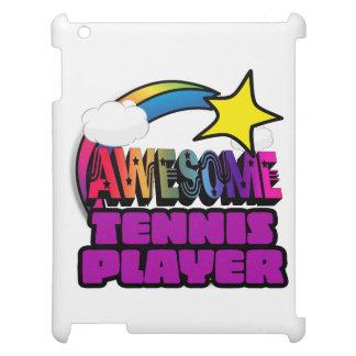 Jugador de tenis impresionante del arco iris de la