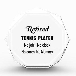 Jugador de tenis jubilado ningún trabajo ningún