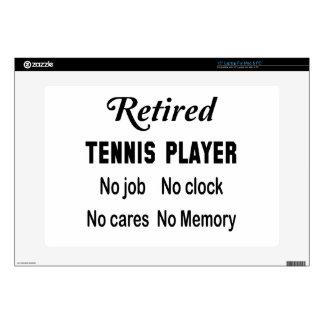 Jugador de tenis jubilado ningún trabajo ningún calcomanías para portátiles