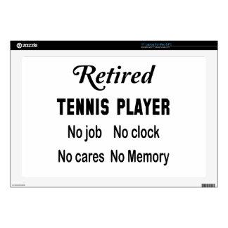 Jugador de tenis jubilado ningún trabajo ningún portátil calcomanías