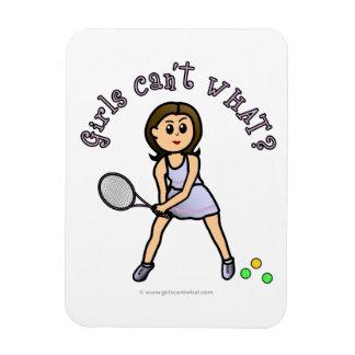 Jugador de tenis ligero del chica iman