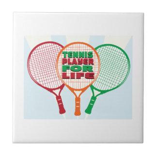 Jugador de tenis para la vida azulejo ceramica