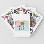 Jugador de tenis para la vida baraja de cartas