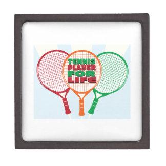 Jugador de tenis para la vida cajas de joyas de calidad