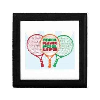 Jugador de tenis para la vida cajas de recuerdo