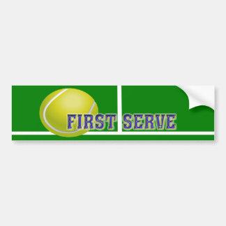 Jugador de tenis pegatina para auto