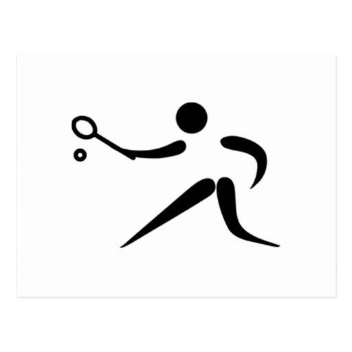 Jugador de tenis tarjetas postales