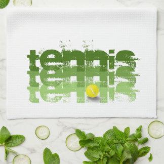 Jugador de tenis, viaje, personalizado toallas de cocina
