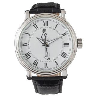 Jugador de tenis, vintage reloj