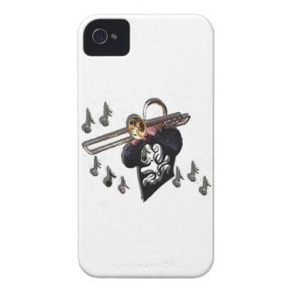 jugador de trombone del diseño de la música iPhone 4 Case-Mate cárcasa