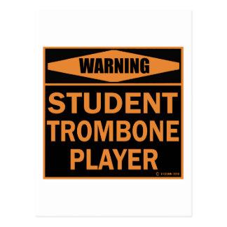Jugador de Trombone del estudiante Postales