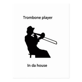 Jugador de Trombone en casa de DA Postales
