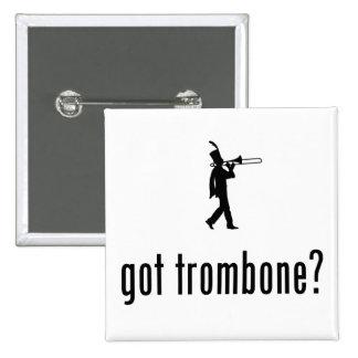 Jugador de Trombone Pin Cuadrado