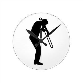 Jugador de Trombone Relojes De Pared