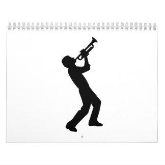 Jugador de trompeta calendarios de pared