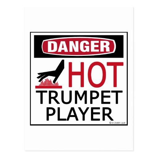 Jugador de trompeta caliente tarjetas postales