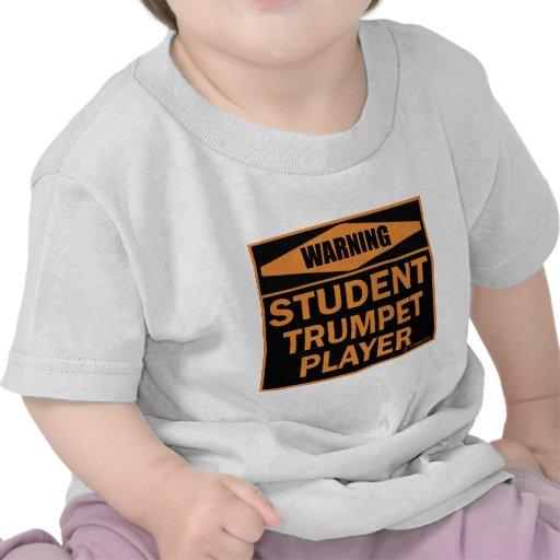 Jugador de trompeta del estudiante camisetas